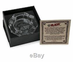 RAW Etched Crystal Leaded Glass ASHTRAY LIMITED EDITION (weight 3LB)
