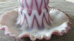 Rare Fenton Grape Opalescent Sculptured Ice Fairy Lamp Limited Edition 2005