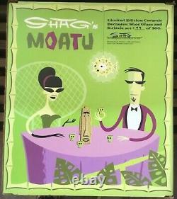 SHAG limited edition Moatu tiki bar decanter, shot glass and swizzle stick set
