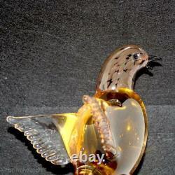 SIGNED Vtg MURANO Exotic Birds World FORMiA Paradise ArT GLaSs LABEL Ltd. Ed