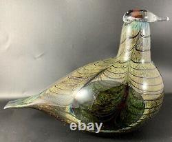 Sculpture Oiva Toikka at Nuutajarvi Art Glass Bird Finland Signed 1980 Wirkkala