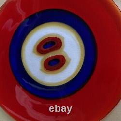 Tapio Wirkkala For Venini Occhio Charger Plate 1991 Murano Design 1967/68