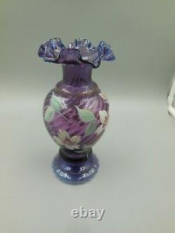 Top Notch Bill Fenton 50 Year Anniversary Mulberry Vase 1946-1996 Cathryn Mackey