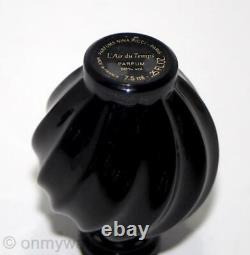 ULTRA-RARE Lalique SIGNED LtdEd NUMBERED L'Air duTemps BLACK Perfume Bottle