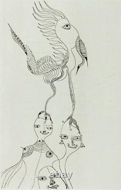 UNICA ZURN 1967 Hand Signed Etching Oracles et Spectacles plate 3