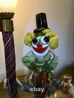 Vintage 1950's Serguso Murano Glass clown Lamp stunning and Rare
