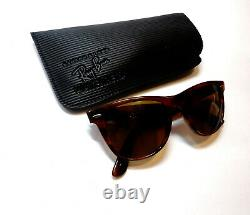 Vintage B&L RAY BAN Wayfarer II Limited Deluxe Edition Tortoise Sunglasses NOS