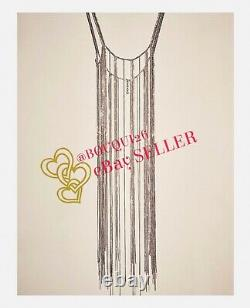 Zara Limited Edition Silver Metallic Bejewelled Rhinestone Top 4736/246 One Size
