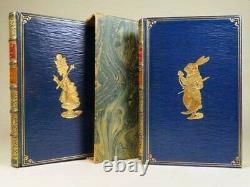 1924 Alice Au Pays Des Merveilles À Travers Le Miroir Lewis Carroll Cuir 2 Livres