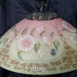 1999 Fenton Birmane Hibiscus Fleur Memories Lampe #613/950 Superbe