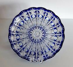 Ajka Caesar Cobalt Coupe Bleue Pour Effacer Le Bol / Pièce Centrale, Neuf, Non Marqué