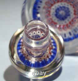 Anglais Whitefriars Decanter Form Millefiori/glass Inkwell Paperweight C. 1970