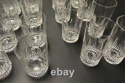 Baccarat Crystal Vintagetiffany Tumblers/bar Glasses Nemours Pattern, Ensemble De 16