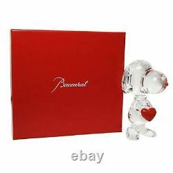 Baccarat Cystal Snoopy Holding Heart Flambant Neuf Dans Le Coffret Baccarat Rouge
