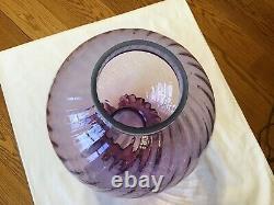 Belle Lampe Optique Spirale De Mûrier De Verre De Verre De 10 Fenton