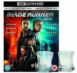 Blade Runner 2049 4k Uhd + Whisky Glass Limited Édition Uk Exclusive Blu-ray