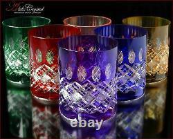 Bohemia Crystal Whisky Lunettes De 10 Cm, 350 Ml, Memfis 6 Pc New