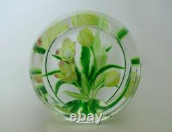 Boxed Ltd Ed Caithness Whitefriars Hellebore Paperweight(76/100) A Scott 3