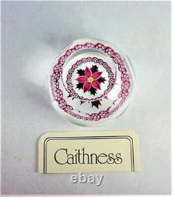 Caithness Paperweight Winter Flower Excellent Travail De Lampe 375/500 Très Rare