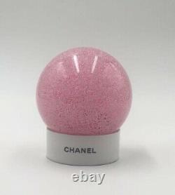 Chanel Frosted Pink Limited Edition Globe De Neige En Verre