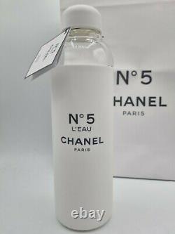 Chanel No 5 Factory 5 Collection Edition Limitée A Bouteille D'eau En Verre 590ml Nouveau