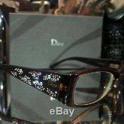 Christian Dior Lunettes 3253 Swarovski Limited Edition Cristal Rare Minuit