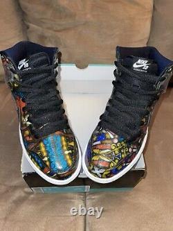 Concepts X Nike Dunk High Premium Sb Vitrail Homme Taille 8.5 Vnds Og Box Tous Les