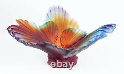 Daum Palmier Coupe Pate De Verre Glass Par Emilio Robba Limited Edition