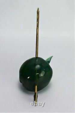 Daum Sculpture De Pomme Perdu Flèche De William Tell Paperweight Pate De Verre