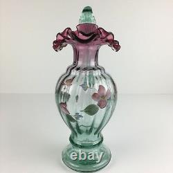 Don Fenton Ewer Pitcher Ruby Verde Floral 1995 Historic 1566fs #d 1930