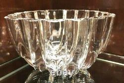 Exquis Orrefors Crystal Centerpiece Bol Signé Et Numéroté Par Lars Hellsten