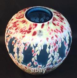 Fenton Art Glass Dave Fetty / Kelsey Murphy Cameo Vase Sculpté Limité À 295