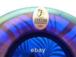 Fenton Cobalt Favrene Vase Limited 1098 De 1250 Mib Signé