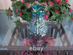 Fenton Emerald Green Poppy Show Vase