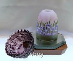 Fenton Fairy Light Rosalene Satin/aubergine Violet Zones V Curren Ooak Free Shp