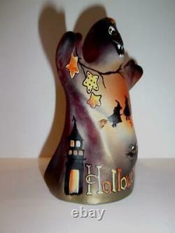 Fenton Glass Halloween Nights Witch Cat Ghost Figurine Gse Ltd Ed #3/43 Orge