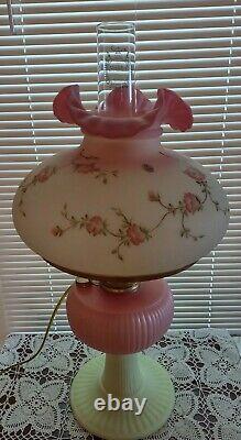 Fenton Grand HP Burmese Aladdin Grand Vertique Huile De Kérosène / Lampe Électrique #477