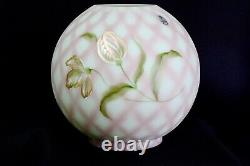 Fenton Green Lotus Mist Burmese Tulips Trellis Lampe Shade Ltd. Édition S. Waters
