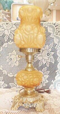 Fenton Miel Amber Lampe De Superposition Embossée - Gtc Ad1
