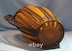 Français Art Déco Dubois Orange Glass & Wrought Iron Vase Circa 1925