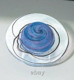 Glass Eye Studio Celestial Rings Of Saturn Art Glass Avec Boîte Fabriquée Aux États-unis