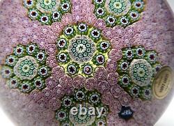 Grand St. Louis 1972 Ltd Ed Pink Carpet Ground Paperweight Millefiori Clusters