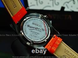 Invicta Men's 43mm Limited Ed Romero Britto Tri-colored Verre Fibre Orange Montre