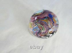 James Alloway Marble En Verre D'art 2.5 La Vengeance De Gaffer Sur Papier #43 Mint
