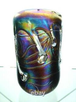 John Ditchfield Glasform Vase De Lave De La Collection Unique Signée Numérotée