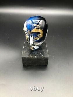 Kosta Boda Art Glass Bertil Vallien Cerveaux Art Glass Sculpture, 4 1/4 Tall