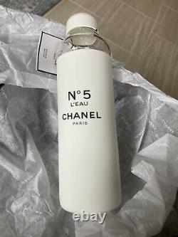 L'usine Chanel No. 5 Leau Blanc Verre Réutilisable Édition Limitée Bouteille D'eau