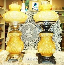 Lampe De Superposition En Relief D'ambre De Miel De Fenton -gtc Ad1