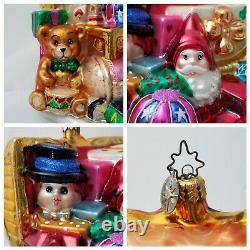 Le #3 Santa Toychest Christopher Radko Marshall Fields Salle De Noix Xmas Ornament
