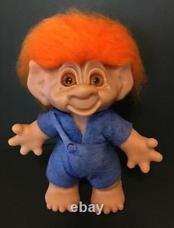 Limited Edition Boy Rare 9 Thomas Dam Troll Doll Orange En Verre Cheveux Yeux 1990